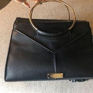 BEBE Handbag (Black w/gold hardware)